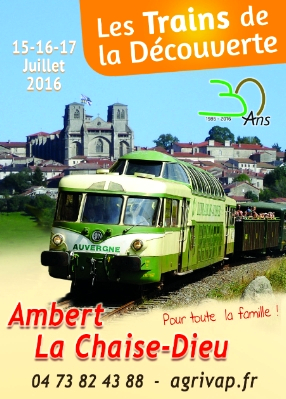 L'affiche des 30 ans des Trains de la Découverte