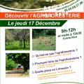 L'affiche de la formation en agroforesterie du CFPPA de Saint-Yrieix-la-Perche