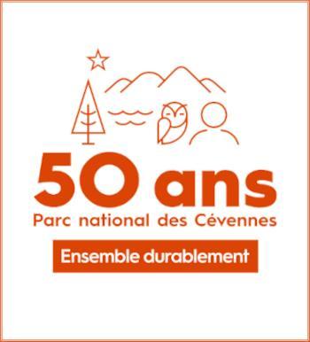 Affiche des 50 ans du Parc National des Cévennes