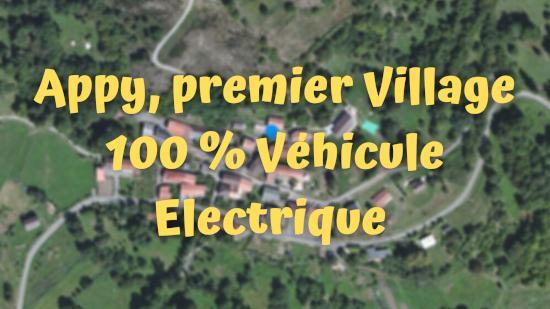 Appy, premier Village 100 % Véhicule Electrique