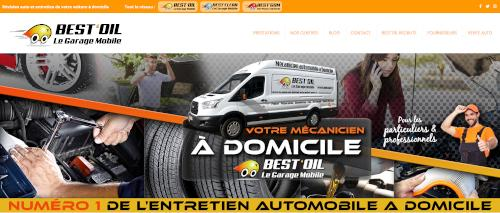 Best Oil, capture d'écran de l'accueil du site web