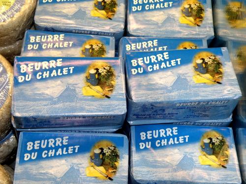Le beurre de la laiterie fromagerie