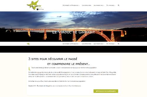capture d'écran du site web de l'écomusée de Margeride