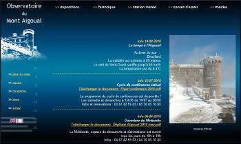 Site web de la station météo du Mont Aigoual