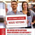 L'affiche des élections aux Chambres des Métiers et de l'Artisanat 2016