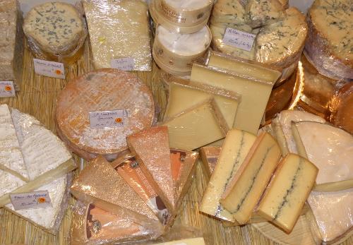 Quelques-uns des fromages proposés par l'épicerie