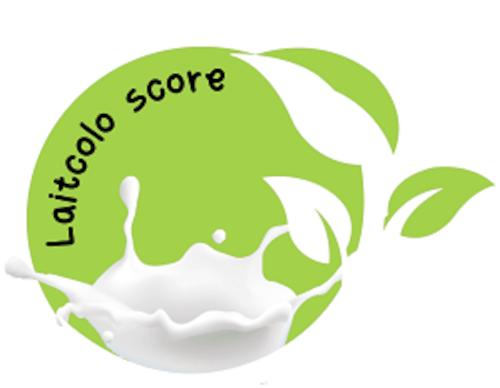 Le logo du Laitcolo score créé par le réseau Invitation à la Ferme