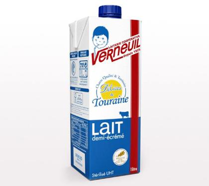 Le lait UHT Délices de Touraine