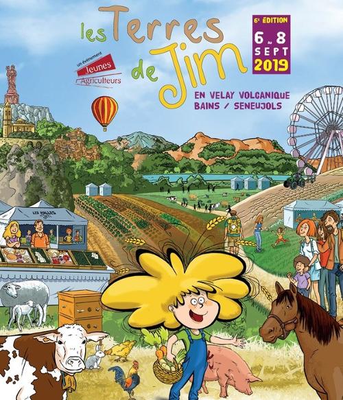 Affiche des Terres de Jim, édition 2019, à Bains