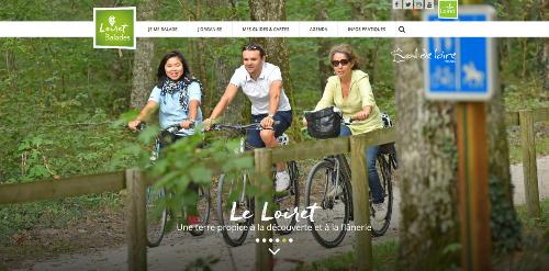 Loiret Balades, la page d'accueil du site