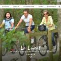 Loiret Balades, une capture d'écran de la page d'accueil du site