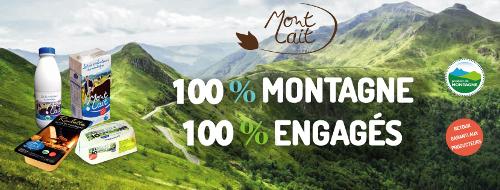 Mont Lait, mise en scène des produits de la marque