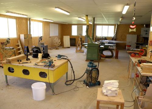 L'atelier dans lequel travaillent Stéphanie et Stéphane