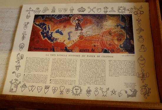 L'histoire du papier, accompagnée d'une illustration en quadrichromie