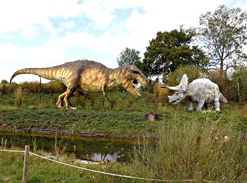 Tyrannosaure et tricératops se font encore face