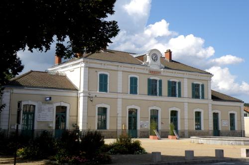 La gare ferroviaire d'Ambert dans le Puy-de-Dôme