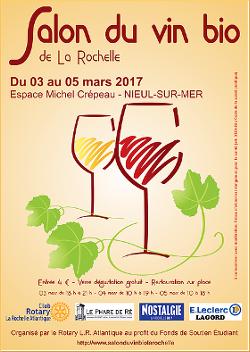 Affiche du salon du vin bio de La Rochelle